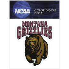Montana Grizzlies Official NCAA 4x4 Die Cut Car Decal by Wincraft
