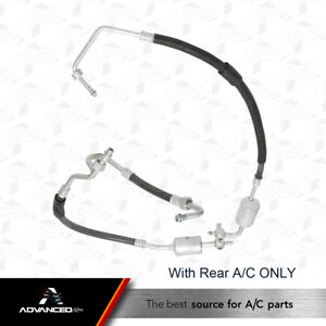 Without Rear A//C With Ahl Replacement A//C Refrigerant Discharge Hose Fits Cadillac Regular SUV Ajb Code