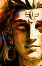 Enmarcado impresión de Lord Shiva De Bronce Dorado cara (imagen buda indio oriental)