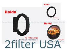 Haida 75-Pro 49mm Circular Polarizer Kit - NanoPro Round CPL, Holder + Ring