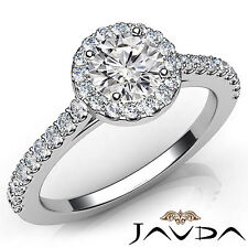 Gia Color E Vvs2 Platinum 1.21Ct Round Diamond Shared Prong Set Engagement Ring