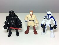 "Star Wars Darth Vader Obi Wan Kenobi Action Figures 2012 LFL 5 1/2""  *LOT Of 3*"