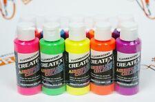 Createx Airbrush Colors Fluorescent airbrushing paint set 10 pcs. 2oz each