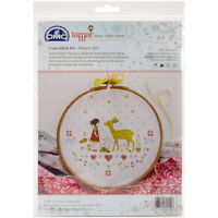 """Charles Craft Counted Cross Stitch 8""""X8""""-Tamar Nature Girl (14 Count), TMRCRX2"""