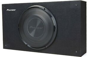 "New Pioneer TS-A2500LB 10"" Shallow Truck Wedge Subwoofer Behind Seat Enclosure"