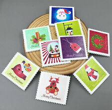 20X Christmas Holiday stamp Wooden Buttons Sewing Scrapbooking DIY crafts 33mm
