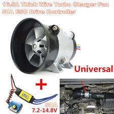 Car Electric Turbine Power Turbo Charger Boost Air Intake Fan w/ 50A ESC Control