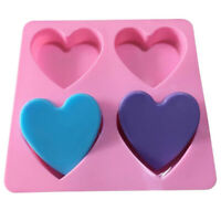 4 Cavity Handmade Silicone Soap Mold Heart 3d Craft Soap Making For Can lsPT YK