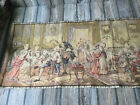 """Vintage European Tapestry Wall Hanging Table Runner 56"""" x19"""""""