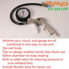 Tire Inflator with Gauge Dial Tyre Pressure Gauge 220PSI Air Compressor Fitting