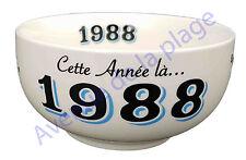 Bol année de naissance 1988 en grès - idée cadeau anniversaire neuf