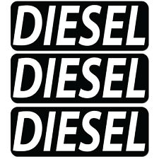 Lot of 3x Diesel Fuel Only Warning Vinyl Sticker Decal Tank Cover Labels Markers