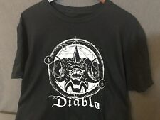 Blizzard Entertainment Mens L Large Black Diablo T-Shirt Cotton Loot Gaming