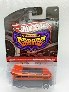Hot Wheels Phil's Garage Real Riders Volkswagen T1 Drag Bus Diecast Collectible