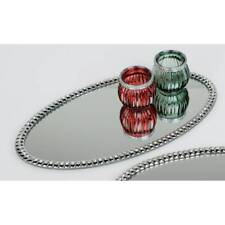 Mirror Plate Stones with Glitter Rhinestones Oval L.36cm B.20cm Glass Formano