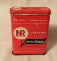 Vintage Advertising Tin NATURE'S REMEDY LAXATIVE Medicine Tin