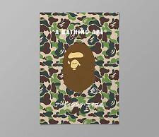 Bape Green Camo A3 poster A Bathing Ape Kaws Supreme quality Sticker Palace