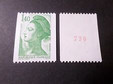 FRANCE 1982, timbre 2191a, type ROULETTE n° ROUGE LIBERTE, neuf** MNH STAMP