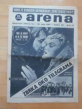 MARILYN MONROE RARE VINTAGE MAGAZINE 1961 YEAR YUGOSLAVIA