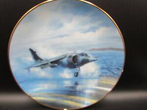 Danbury mint plate classic RAF aircraft aeroplane hawker siddeley harrier