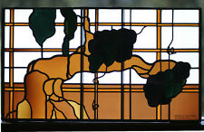 """Leaded Glass, Stained Glass Panel 35""""x20"""" - Real Antique Glass"""