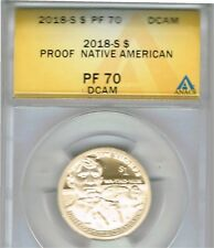 2018-S $1 Native American (Proof) ANACS Authenticated PF 70 Dollar
