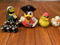 Disney Donald Rubber Ducky PIRATES OF THE CARIBBEAN Devil DUCKIES RARE LOT of 10