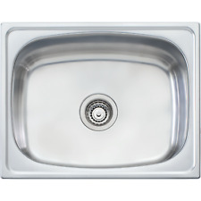 Oliveri 45l Laundry Sink Tub With Rinse Bypass TI45S