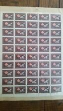 Canadian stamps full sheet of 50 MNH, Quebec Conference, #432, 5c brown and rose