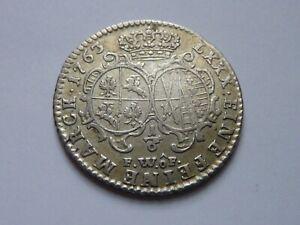 Pologne. Auguste III. Rare 1/6 thaler.