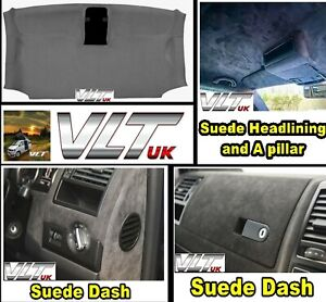 VW T5 T6 TRANSPORTER DASHBOARD HEADLINING ROOF Faux Leather SUEDE CADDY CUSTOM