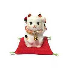 Chat Japonais 65mm Chirimen Maneki Neko bobtail porcelaine Made in Japan 40588