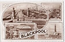 Lancashire; Blackpool Multiview RP PPC Unposted by Bamforth