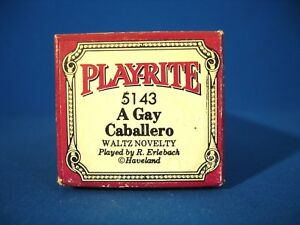 VINTAGE PIANO ROLL - PLAYRITE # 5143 WORD ROLL - THE GAY CABALLERO