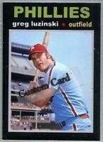 GREG LUZINSKI PHILADELPHIA PHILLIES 1971 STYLE CUSTOM MADE BASEBALL CARD BLANK