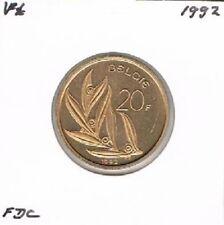 Belgium / België dutch 20 francs 1992 BU - KM160