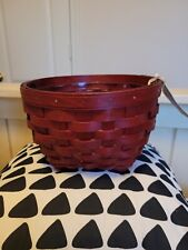 """New listing Longaberger 2014 """"All Things"""" Red basket, protector, Nwt"""