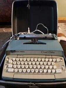 Vintage SCM Smith Corona Coronet Automatic Two Tone Electric Typewriter