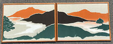 Vintage 2 Piece Mid Century 60s-70s MARUSHKA Inspired By Flite Screen Art 6 Feet