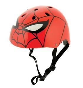 Spiderman Kids Boys Ramp Safety Helmet Marvel Themed Skate Bicycle BMX RED