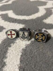 Lot of masonic rings