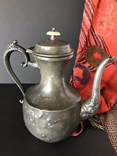 "Old English Silver Plated Coffee Pot by ""C. B. Walker Silversmith"" …beautiful di"