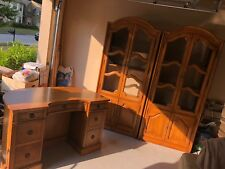 Genuine Mahogany Association Inc Cabinet Bookcases and Office Desk