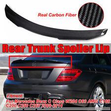 For Mercedes W204 C63 AMG Carbon Fiber Rear Trunk Spoiler 2008-2014 PSM Lid