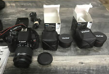 Canon EOS Rebel T5i EF-S 18-55 IS STM Camera Kit with Carrying case, 2 Lenses.