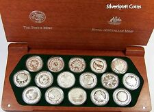 2000 OLYMPIC GAMES SYDNEY 16 x SILVER PROOF COIN Set with Certificates