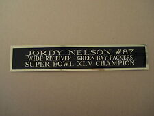 Jordy Nelson Nameplate for an Autographed Football Jersey Display Case 1.5  X 8 2c576c04e