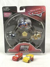 Disney Pixar Cars Metallic Minis With Fabulous Lightning McQueen And Loose Cars
