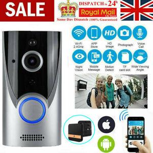 1080P Smart Video Doorbell WiFi Wireless Intercom Door Bell Home Security Camera