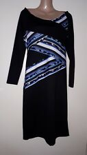 BNWT Ladies Black mix low scoop neck Party/Event Dress STAR JULIEN MACDONALD 14